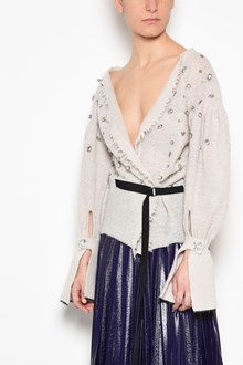 AVIU' Destroyed' cardigan with waist belt