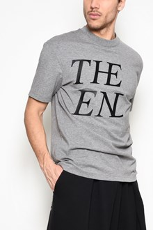 McQ ALEXANDER McQUEEN Cotton crew neck t-shirt with 'The End' print