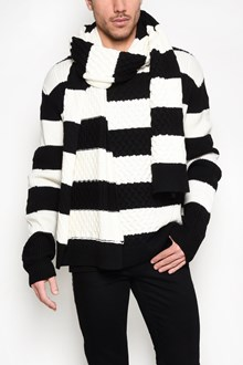 McQ ALEXANDER McQUEEN Black and white striped sweater