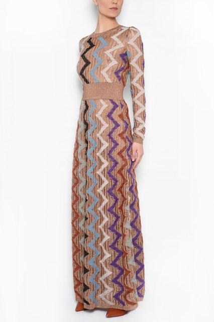 MISSONI zig zag long dress
