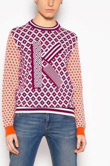 KENZO Crew-neck cardigan with multicolor fantasy