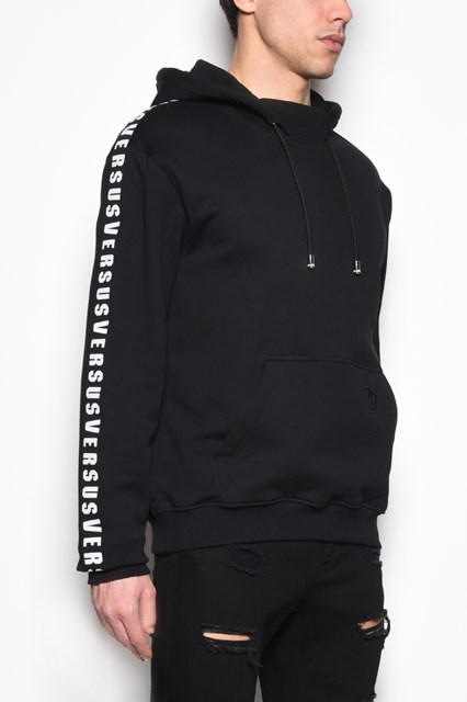 VERSUS VERSACE Hooded sweatshirt with side logo bands