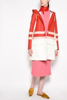 MARNI Multicolor hooded waxed jacket