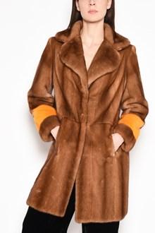 SIMONETTA RAVIZZA 'Oreg' mink fur with orange detail in cuffs and back