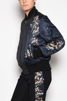 N°21 Zipped bomber jacket with japanese embroidery