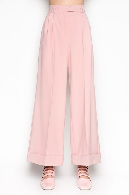 VIVETTA 'Tours' wide trousers with lapel