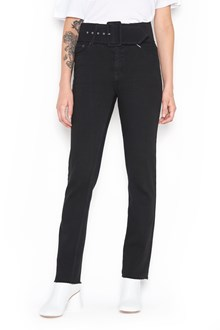 MM6 BY MAISON MARGIELA High waist denim jeans with belt