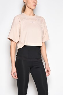 ADIDAS BY STELLA MCCARTNEY Cropped cotton and polyester t-shir