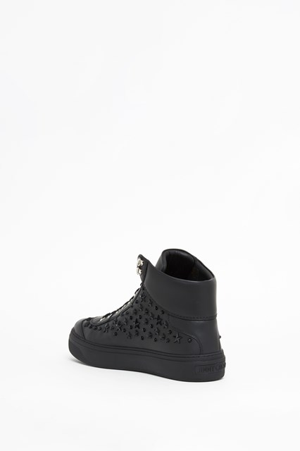 JIMMY CHOO High leather shoes with star studs