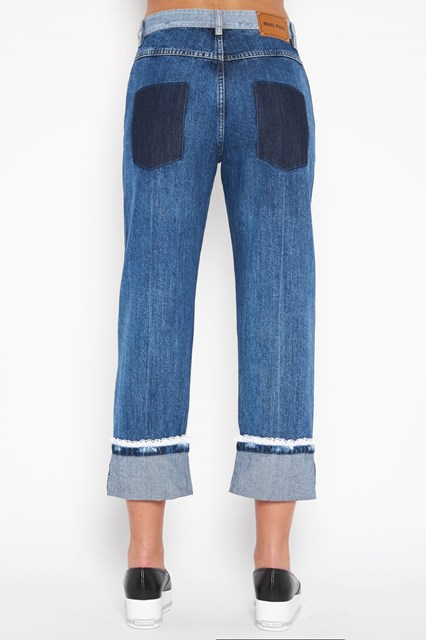 MIU MIU Jeans with Sangallo details