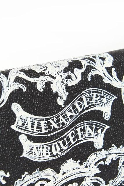 ALEXANDER MCQUEEN Skull printed leather zip around wallet