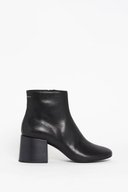 MM6 BY MAISON MARGIELA Leather ankle boot with side zipper