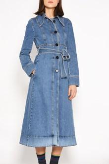 MARNI Denim coat with belt