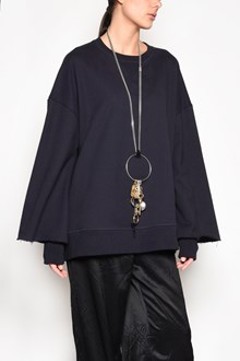 MAISON MARGIELA Oversize cotton sweatshirt with cuffs detail
