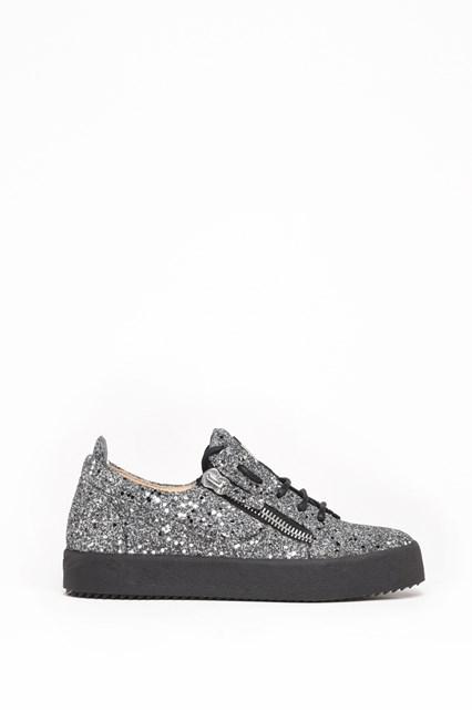 GIUSEPPE ZANOTTI DESIGN Glittered zipped sneaker