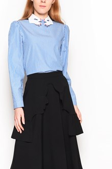 VIVETTA 'Mitilene' striped shirt with 'Hands' embroidery at the collar