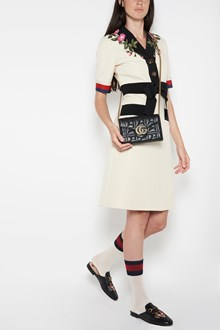 GUCCI 'Marmont'  bag with chain strap ang GG logo with pearls