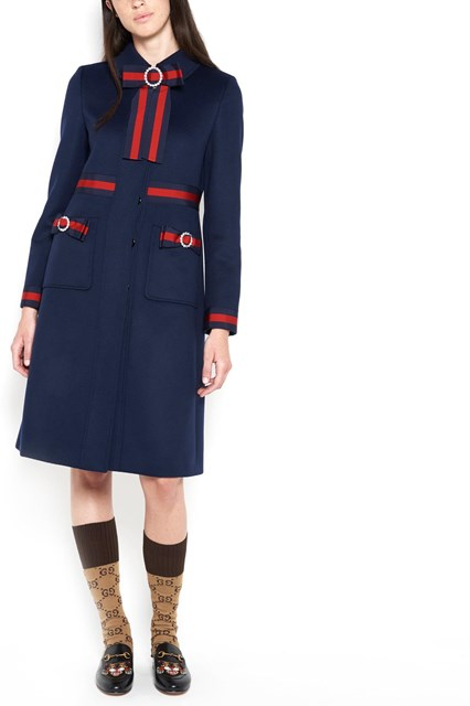 GUCCI wool coat with bows
