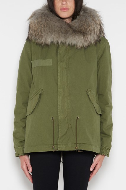MR & MRS ITALY 'Army' parka with fur