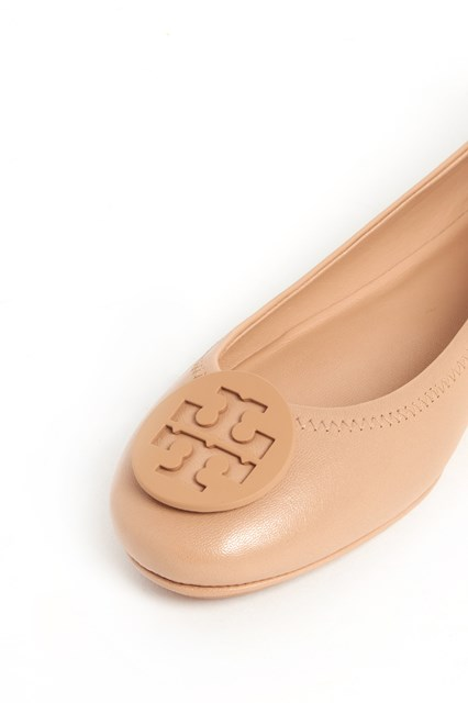 TORY BURCH ' Minnie travel ballet' flat shoes with logo