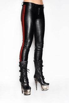 FAITH CONNEXION 'Biker' leather trousers with side contrast bands
