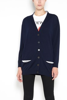 LOEWE Wool cardigan with logo on pockets