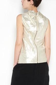RICK OWENS silver 'Bonnie' vest with hood