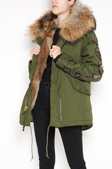 AS65 Short slim parka with Murmasky and rabbit fur and velvet patch