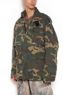 YEEZY Oversize camouflage printed jacket with pockets over