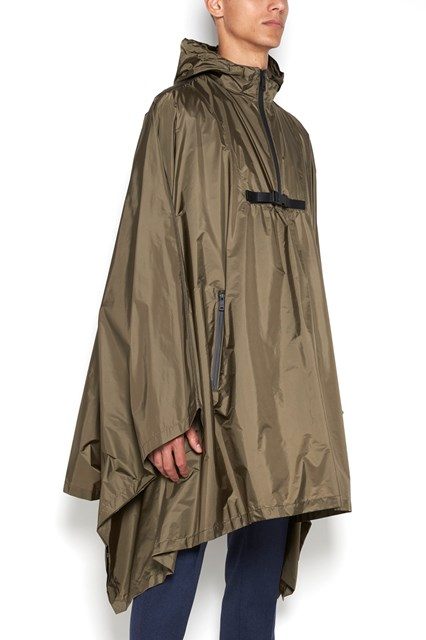 PRADA LINEA ROSSA waterproof nylon cape with hood