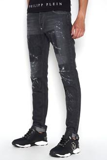 PHILIPP PLEIN super straight cut 'Sozen' jeans  destroyed effect