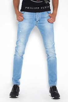 PHILIPP PLEIN super straight cut 'classic two' jeans destroyed effect