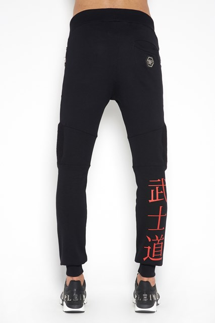 PHILIPP PLEIN 'Feel' jogging trousers  with print  and pleats details on knee