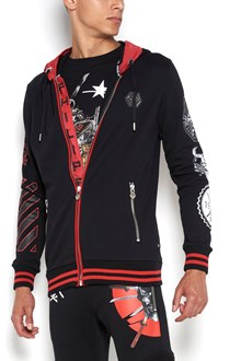 PHILIPP PLEIN 'Appoint' hooded sweatjacket with  skull print