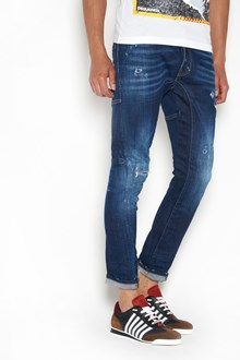 DSQUARED2 'Tidy biker' red spinkle wash jeans