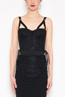 DOLCE & GABBANA Bustier with laces and back clasp closures
