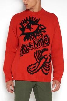 STELLA MCCARTNEY wool sweatshirt with big embroidery on front