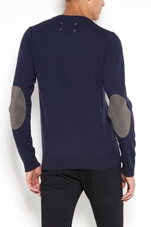 MAISON MARGIELA round-neck  wool sweater with patches