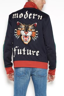 GUCCI zipped sweatshirt with big 'Tiger' patch on back