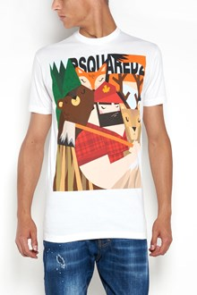 DSQUARED2 long cool fit 'Mountain's life'  printed t-shirt