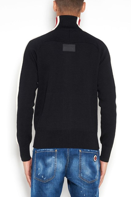DSQUARED2 Wool casual zip high pull over
