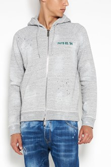 DSQUARED2 Classic raglan fit hoodie with zip closure
