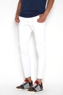 DSQUARED2 'Sexy twist' white bull wash high casual jeans