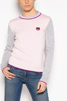 KENZO 'Tiger' embroidered crew-neck wool cardigan