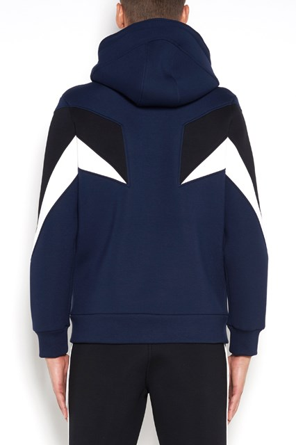 NEIL BARRETT hoodie with zip closure and flash print