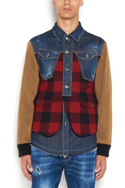 DSQUARED2 ' Canada hiking' checked jacket