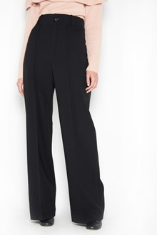 CHLOÉ wool bell bottoms trousers with high waist