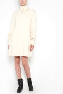 CHLOÉ short dress with lace details on wide sleeves