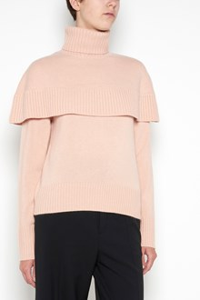 CHLOÉ turtle neck wool pull over with flounce