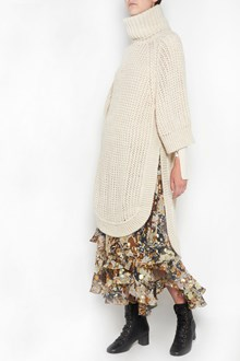 CHLOÉ long oversize sweater,turtle neck , side split and 3/4 sleeves